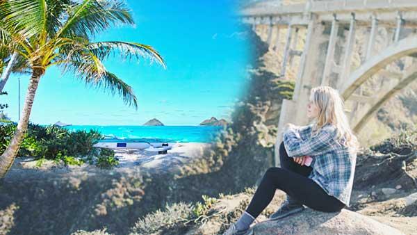 ハワイに行きたいと思っている女性
