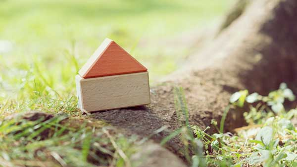 積み木で作った家