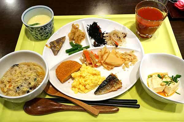 鳥取グリーンホテルモーリスで朝ごはん