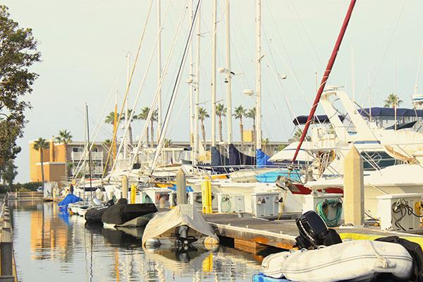 カリフォルニアの港