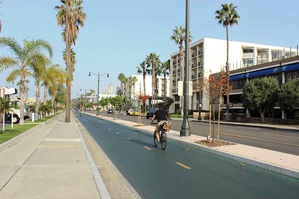 カリフォルニアの自転車道路