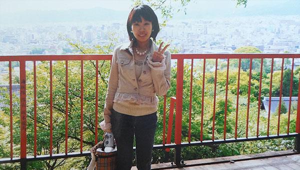 霊山護国神社にある坂本龍馬の墓から見える京都市内