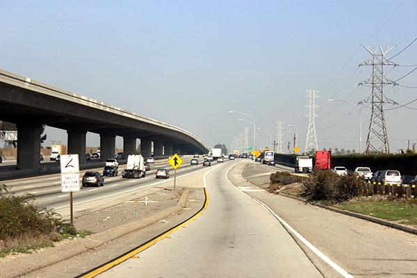アメリカの高速道路合流線