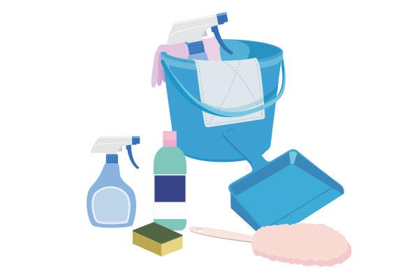 清掃用具のイラスト