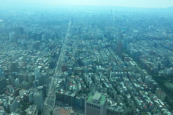 台北101展望台から見る景色は