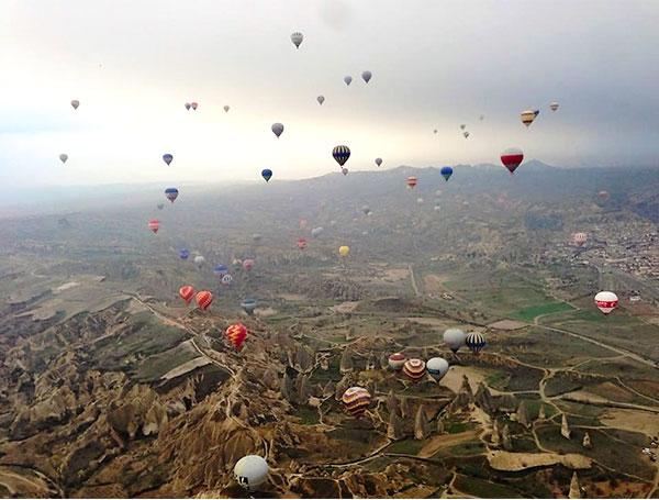 沢山の気球