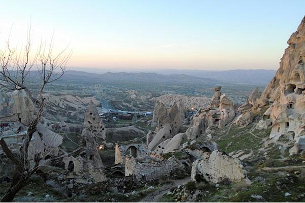 上から見た岩景色