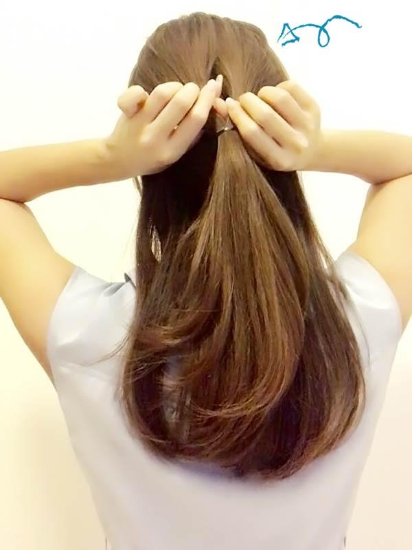 髪の毛に空洞をつくる