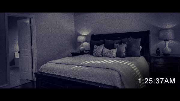 監視カメラから見た寝室