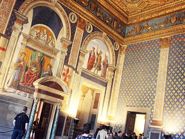 ヴェッキオ宮殿の内部