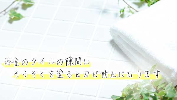 浴室のタイル