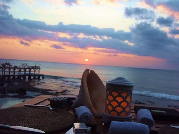 バリ島での夕日