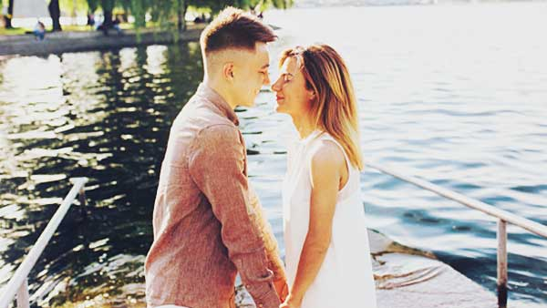 愛し合う男と女