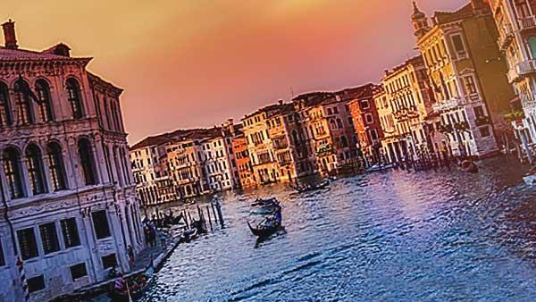 イタリアの夕暮れ
