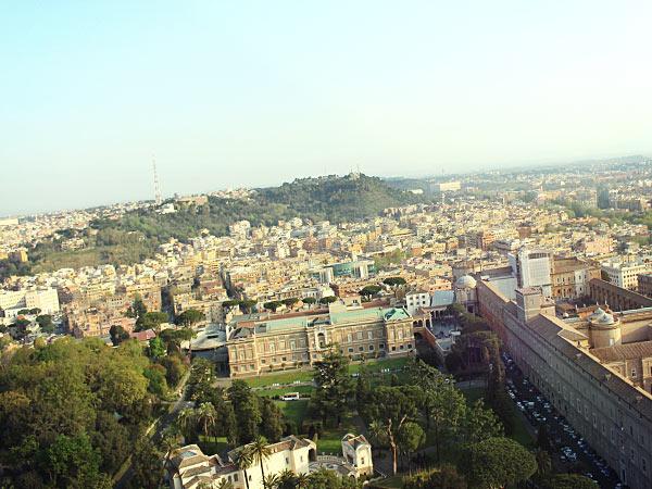 クーポラから眺めるローマの風景