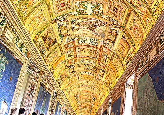 バチカン美術館の天井