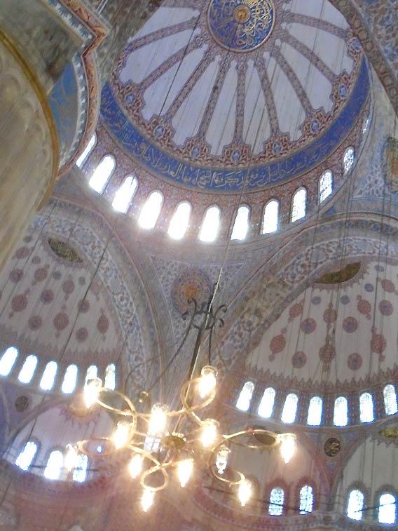スルタンアフメト・ジャーミィの天井