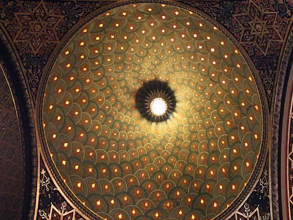 スペインシナゴーグの天井
