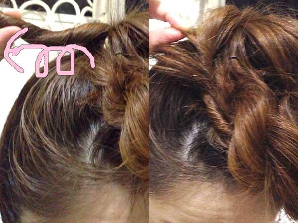 編み目表面の髪をつまんで引き出し、できるだけモコモコ感を出すように引き出した方がかわいくなる