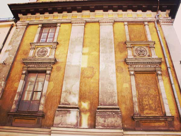クラクフ旧市街の歴史的な建造物