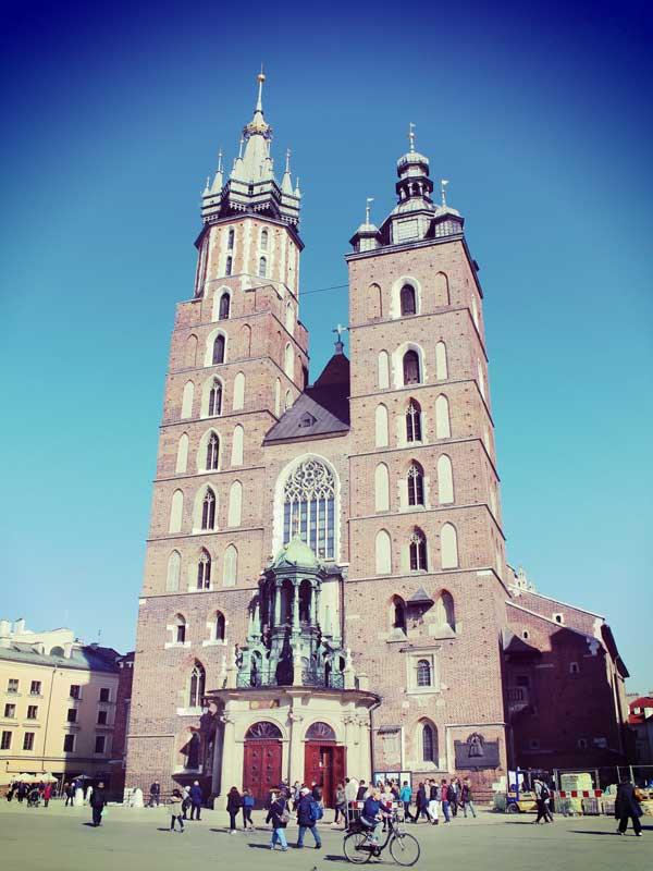 世界遺産のクラクフの教会