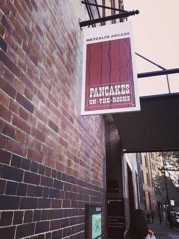 オーストラリアのレンガ造りのレストランPANCAKE ON THE ROCKS