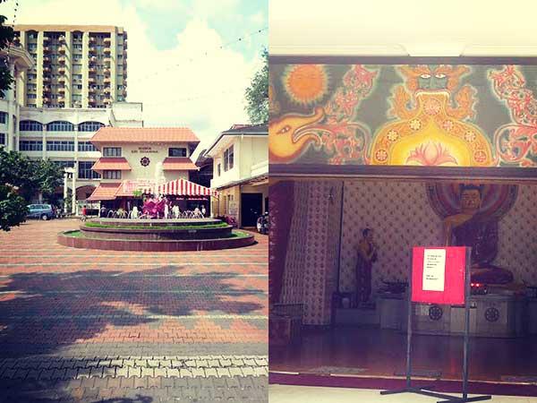 仏教施設の正面と入口