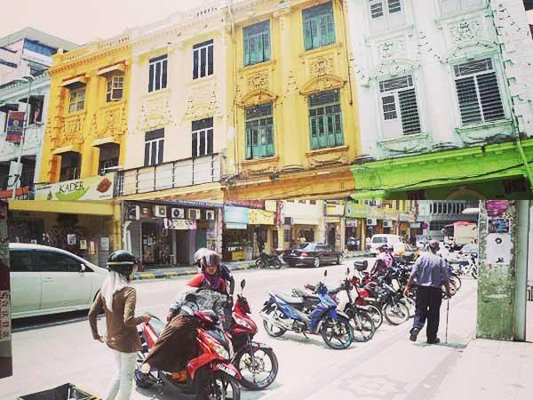 マスジャメット周辺インド人街と建物