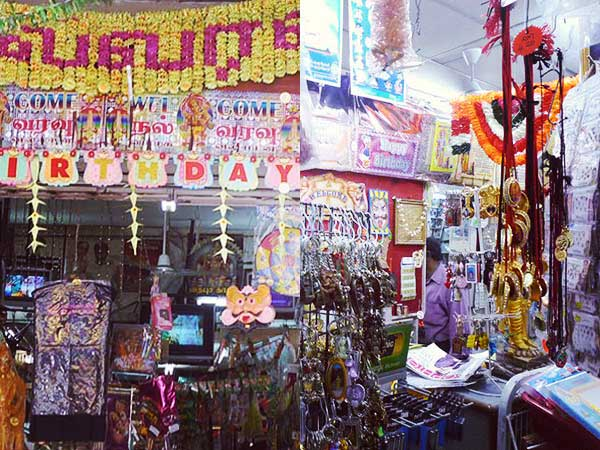 マスジャメット周辺インド人街の店外観と店内