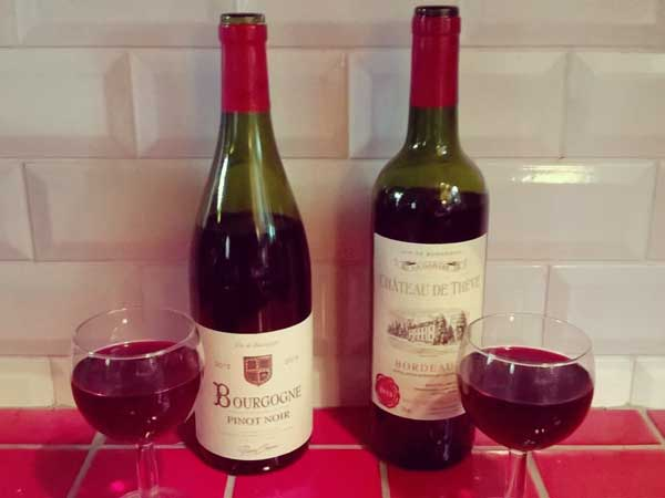 ボルドーとブルゴーニュワイン
