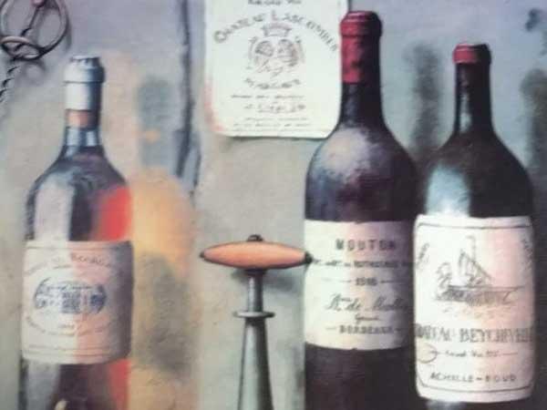 ワインの絵画