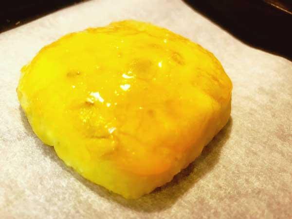 卵黄塗りしたポテト