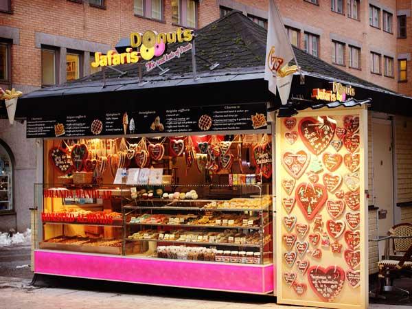 ストックホルムの可愛いドーナツ屋