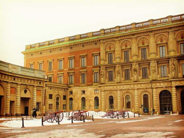 ストックホルム宮殿の中庭