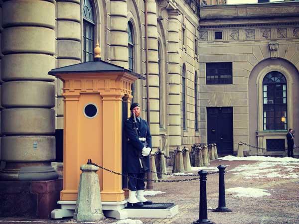 ストックホルム宮殿の門兵さん