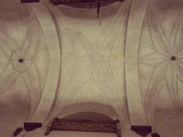 聖ヤコブ教会の天井
