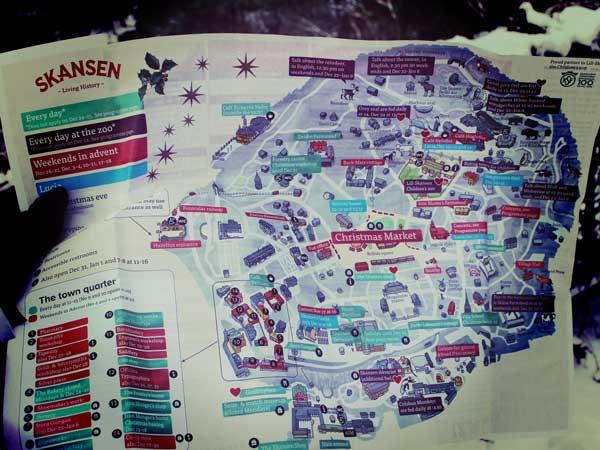 スカンセン内のマップ