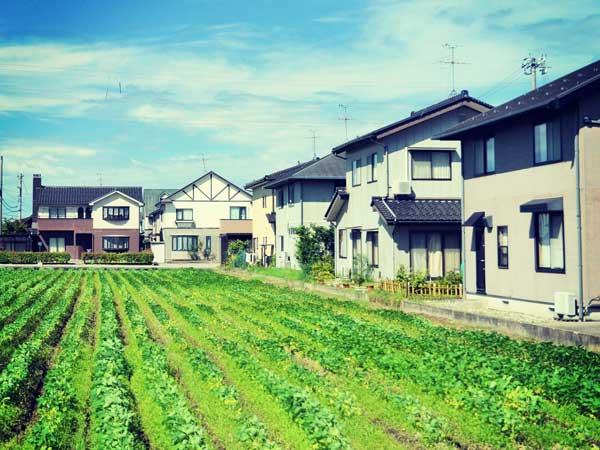畑に近い住宅