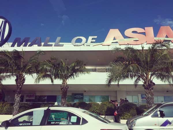 フィリピンのショッピングモールMOAの外観