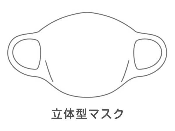立体型マスクのイラスト