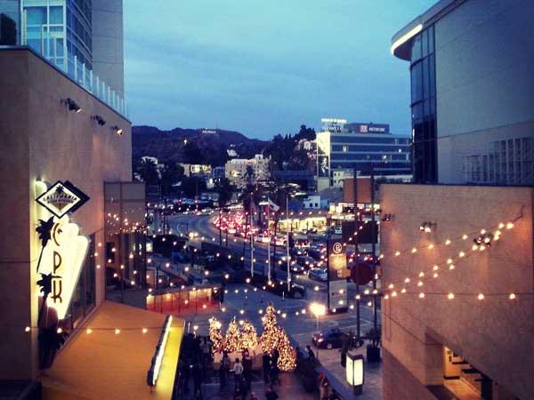 ハリウッドハイランドから見える夜景