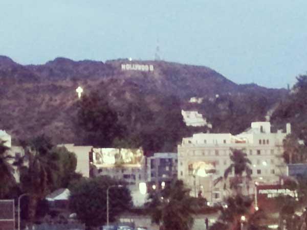 ハリウッドハイランドから見える名物サイン