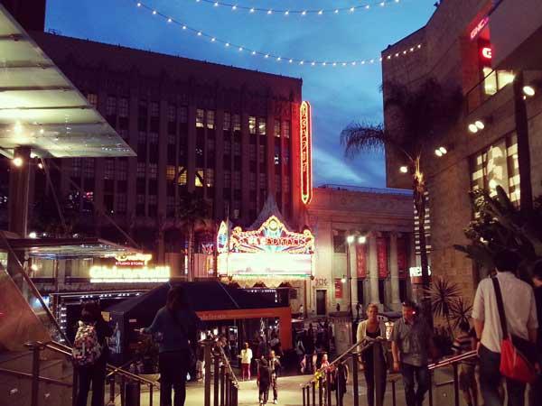 LAの美しい薄暮の風景