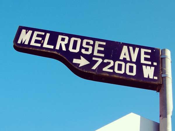 メルローズ・アベニュー大通り標識