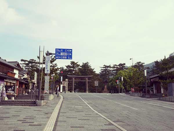 出雲大社へ続く道の風景