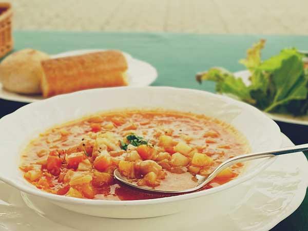 島根県立美術館内のレストランで食べた野菜スープ
