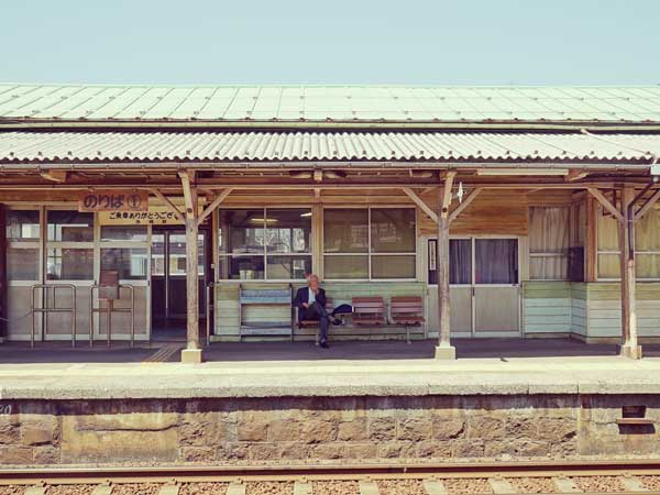 趣を感じられる赤碕駅のレトロなホーム