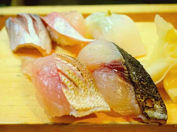 ネタが大きい郷の鮨たむらの握り寿司