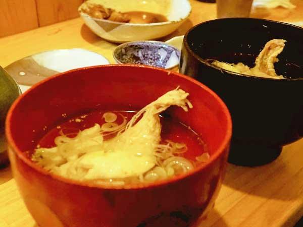 郷の鮨たむらで食べた出汁が旨い吸い物