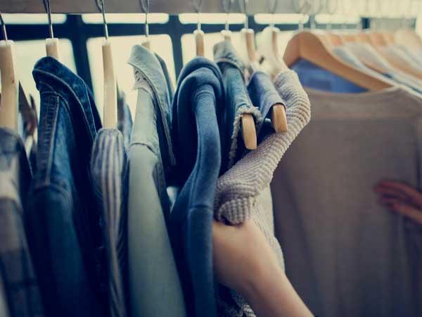 きれいに片づけていた洋服